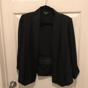 Black blazer w sheer arms